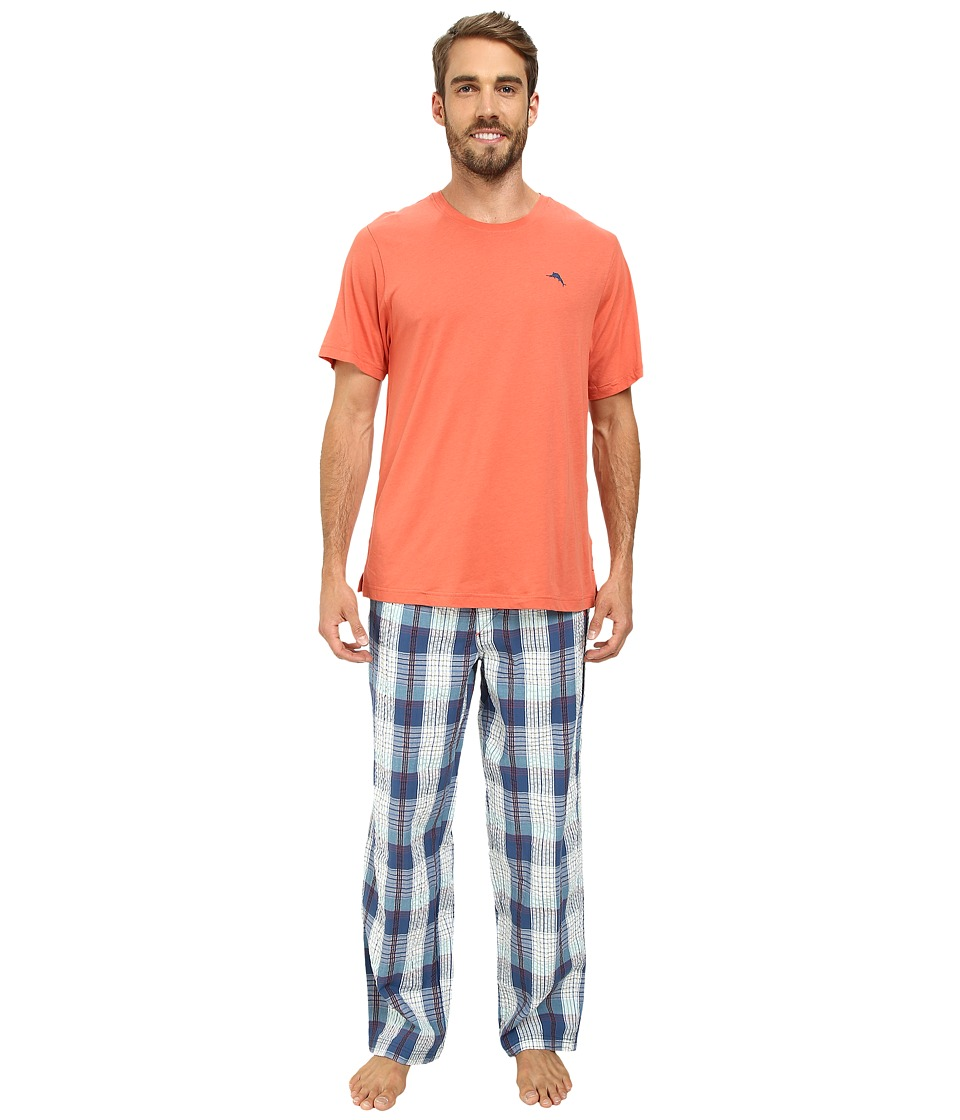 Tommy Bahama - Short Sleeve Island Washed Bermuda PJ Set (Multi) Men