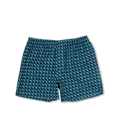 Tommy Bahama - Big Tall Printed Island Washed Cotton Boxer (Dark Sea) Men