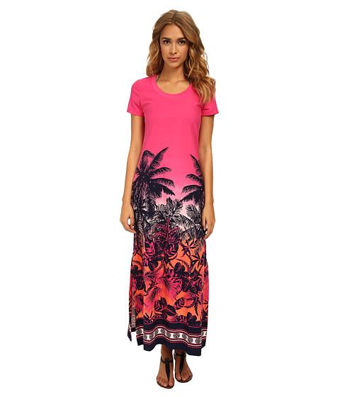 Tommy Bahama - Palm Long T-Shirt Dress (Ombre) Women's Swimwear