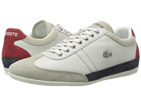 Lacoste - Misano 15 LC (Off White/Blue/Red) Men's Shoes