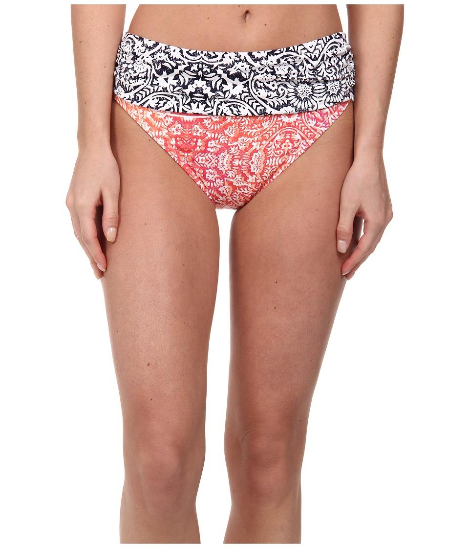 Tommy Bahama - Medallion High Waist Sash Pants (Coral) Women's Swimwear