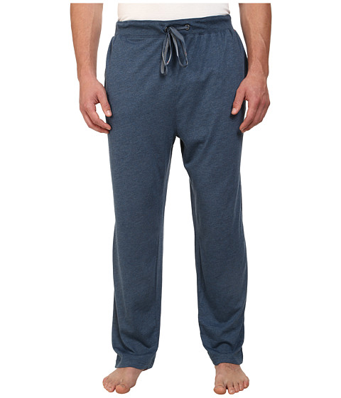 Tommy Bahama - Big Tall Heather Cotton Modal Jersey Lounge Pants (Navy) Men