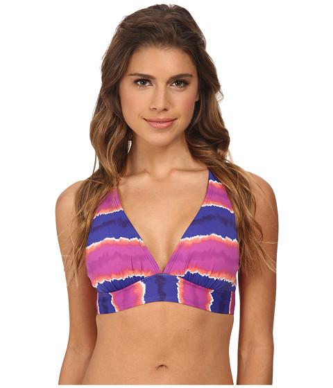 Tommy Bahama - Paint Stripe V-Neck Bikini Top (Danubio Blue) Women's Swimwear