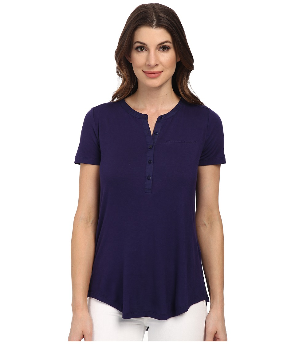 NYDJ - Pleat Back Knit Top (Midnight) Women's T Shirt
