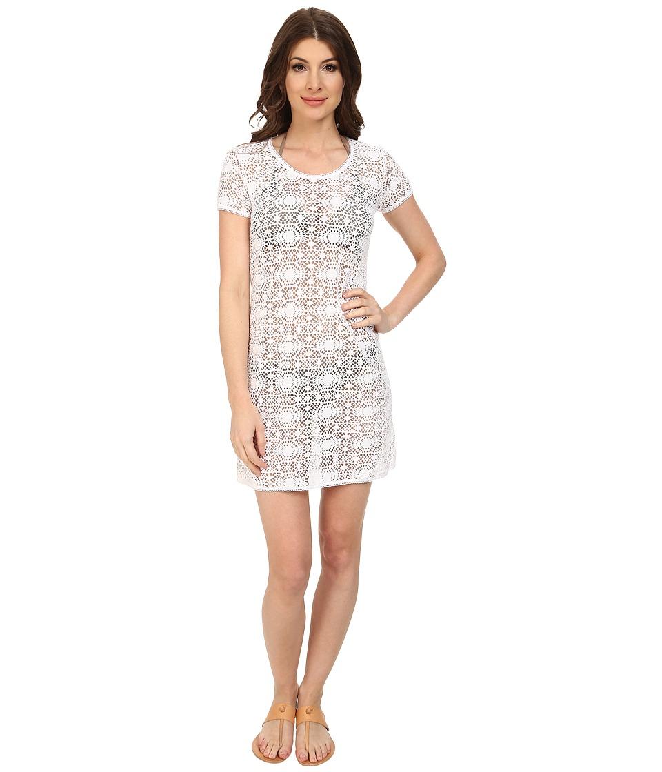 Tommy Bahama - Crochet Lace Short T-Shirt Dress Cover-Up (White) Women