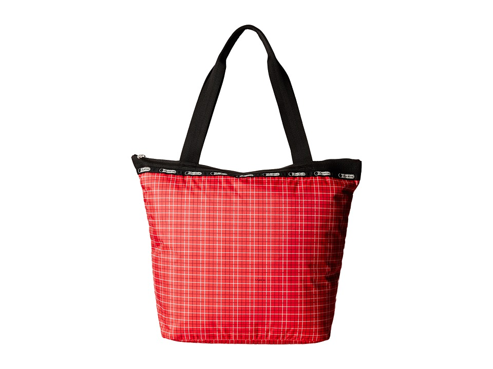 LeSportsac - Hailey Tote (Tattersal Red) Tote Handbags
