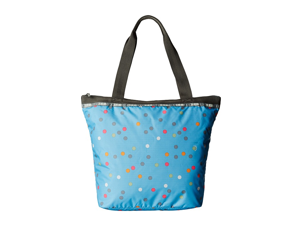 LeSportsac - Hailey Tote (Litho Dot Blue) Tote Handbags