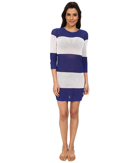 Tommy Bahama - Bold Stripe Beach Sweater Cover-Up (Danubio Blue/White) Women