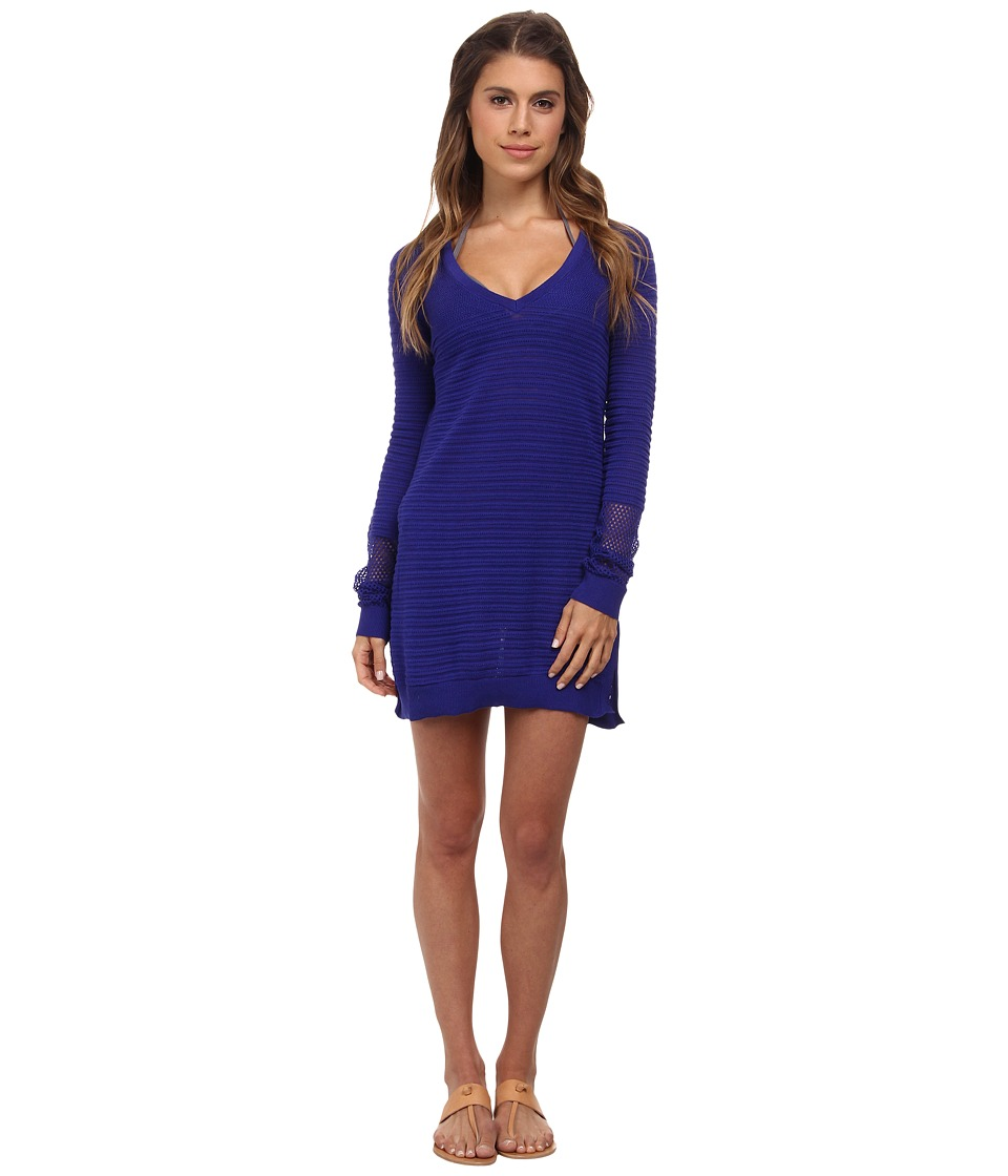 Tommy Bahama - Variegated Texture Beach Sweater Cover-Up (Danubio Blue) Women