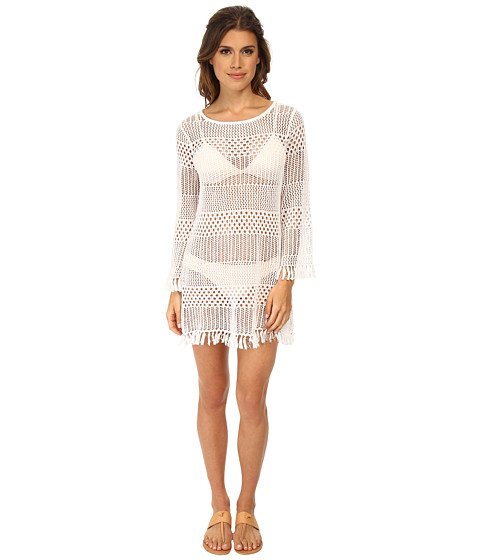Tommy Bahama - Tassel Beach Sweater Cover-Up (White) Women's Swimwear