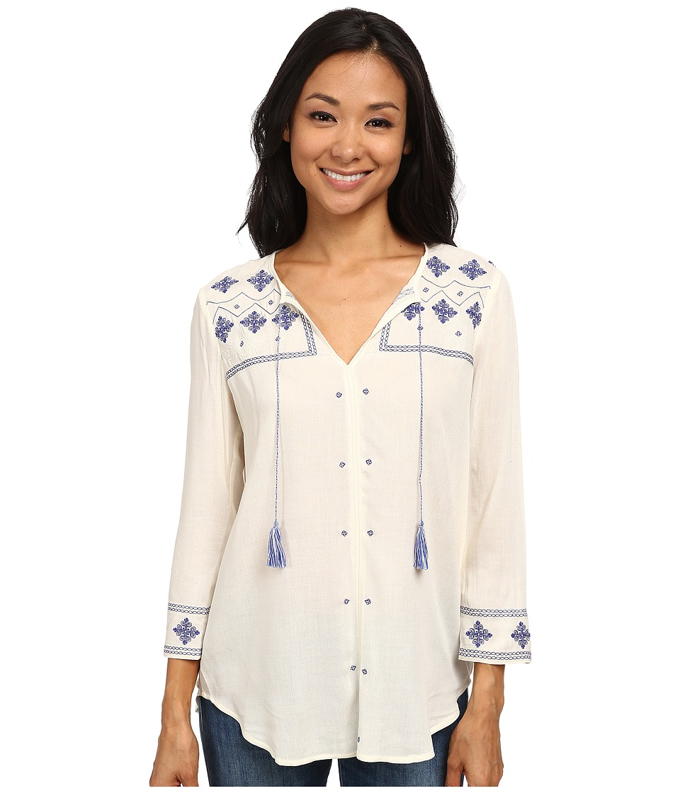 NYDJ - Embroidered Tunic (Vanilla) Women