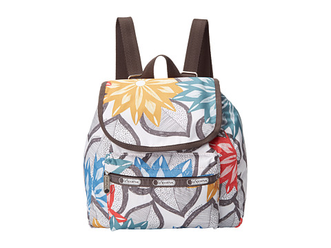LeSportsac - Small Edie Backpack (Caraway Floral Light) Backpack Bags