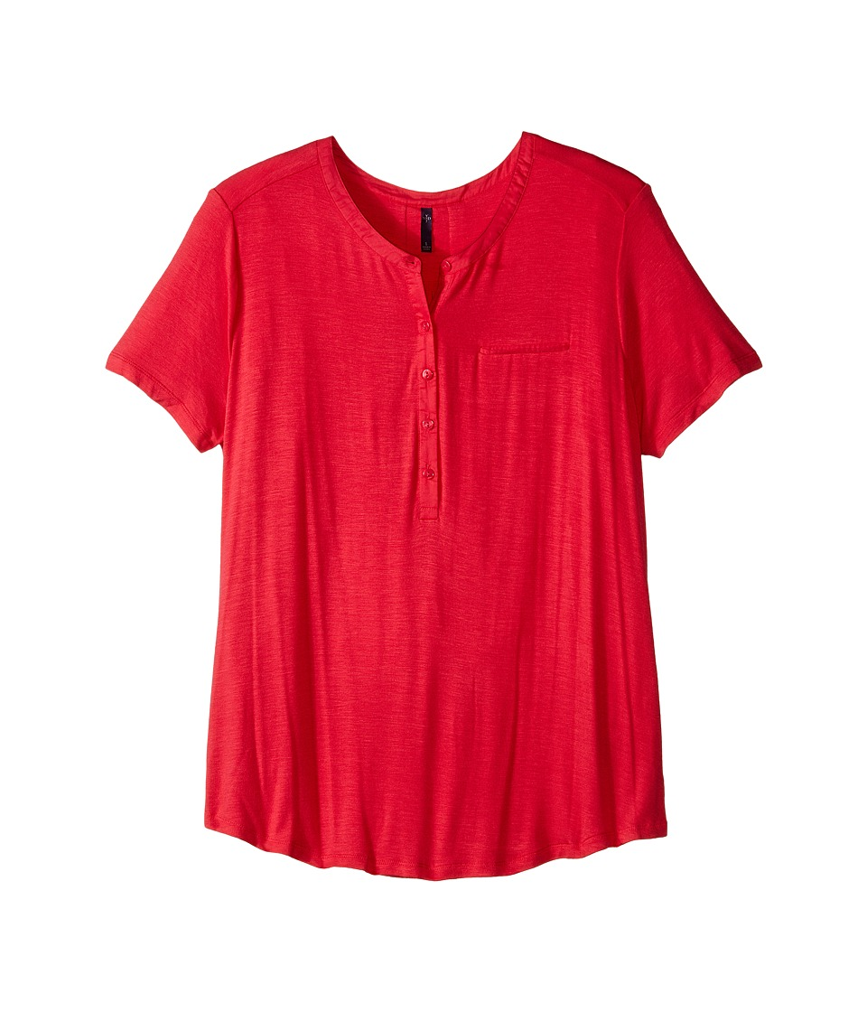 NYDJ - Pleat Back Knit Top (Peony) Women