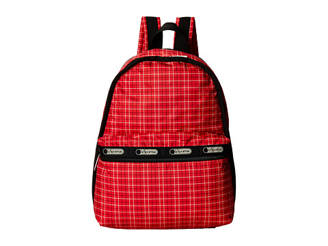 LeSportsac - Basic Backpack (Tattersal Red) Backpack Bags