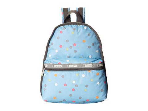 LeSportsac - Basic Backpack (Litho Dot Blue) Backpack Bags
