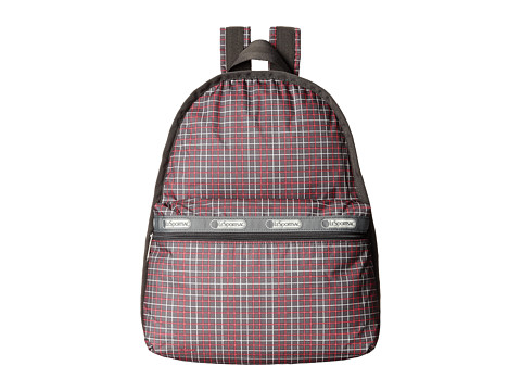LeSportsac - Basic Backpack (Tattersal Grey) Backpack Bags