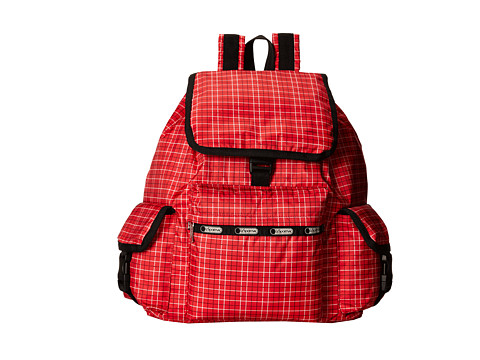 LeSportsac - Voyager Backpack (Tattersal Red) Backpack Bags