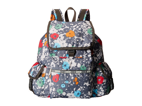 LeSportsac - Voyager Backpack (Chroma Flower) Backpack Bags