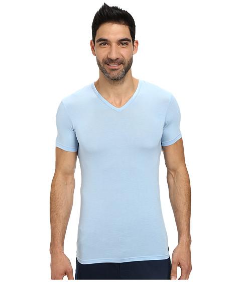 Calvin Klein Underwear - Body Micro Modal S/S V-Neck U5563 (Oxygen) Men's Short Sleeve Pullover