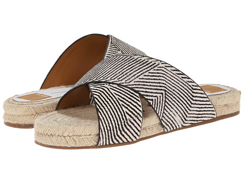 Dolce Vita - Genivee (Black/White Stripe Calf Hair) Women's Sandals