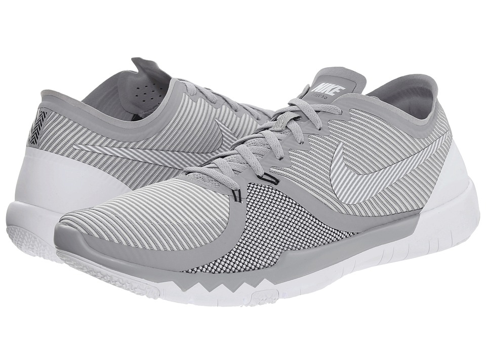 Nike - Free Trainer 3.0 V4 (Wolf Grey/Black/White) Men's Cross Training Shoes
