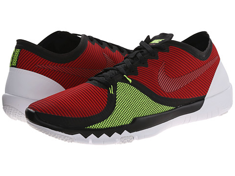 Nike - Free Trainer 3.0 V4 (Black/University Red/Volt/Team Red) Men's Cross Training Shoes