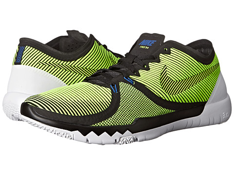 Nike - Free Trainer 3.0 V4 (Black/Cactus/White/Volt) Men's Cross Training Shoes