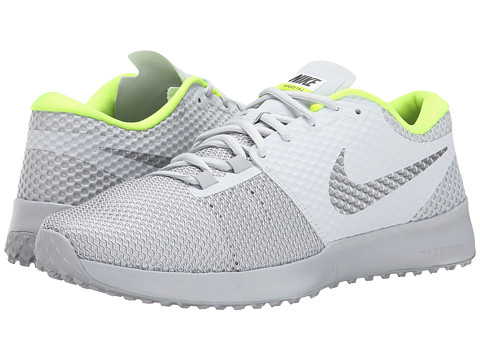 Nike - Zoom Speed TR 2 (Pure Platinum/Wolf Grey/Volt/Metallic Silver) Men's Cross Training Shoes