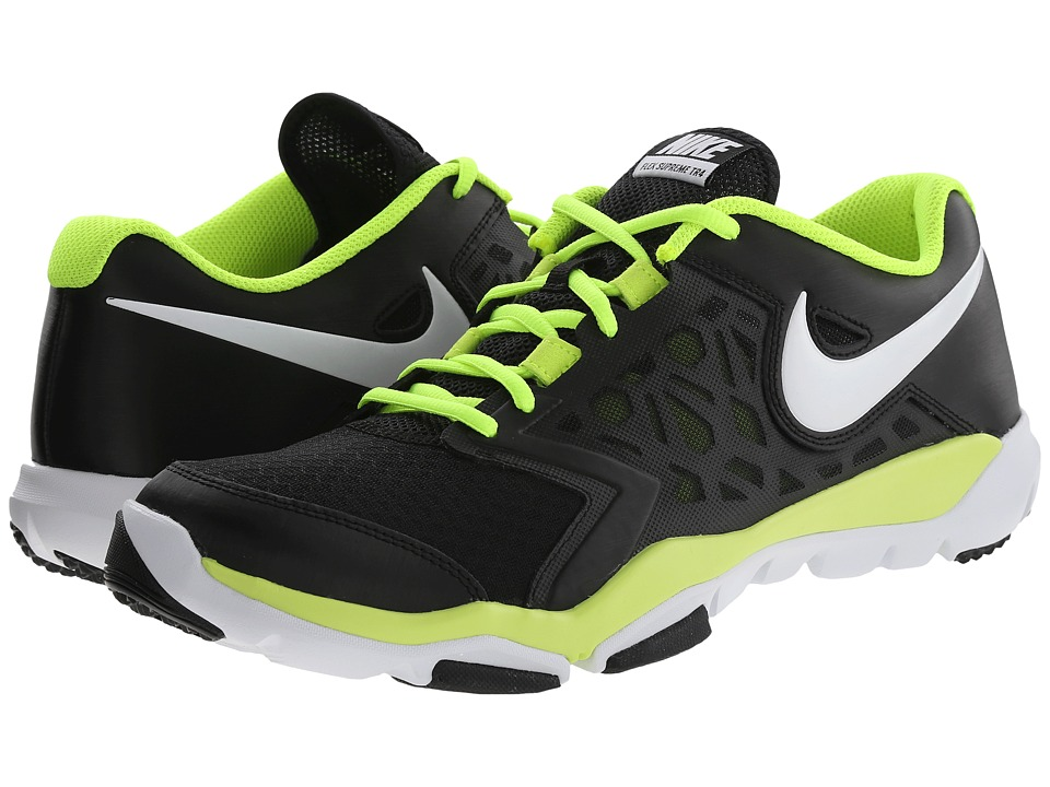 Nike - Flex Supreme TR 4 (Black/Volt/White) Men's Cross Training Shoes