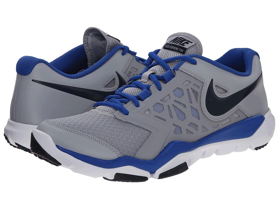 Nike - Flex Supreme TR 4 (Wolf Grey/White/Obsidian) Men's Cross Training Shoes