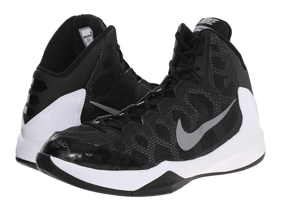 Nike - Zoom Without A Doubt (Black/Flint Silver/Chrome/Metallic Silver) Men's Basketball Shoes