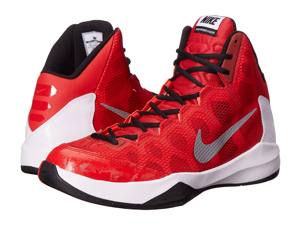Nike - Zoom Without A Doubt (University Red/White/Black/Reflect Silver) Men
