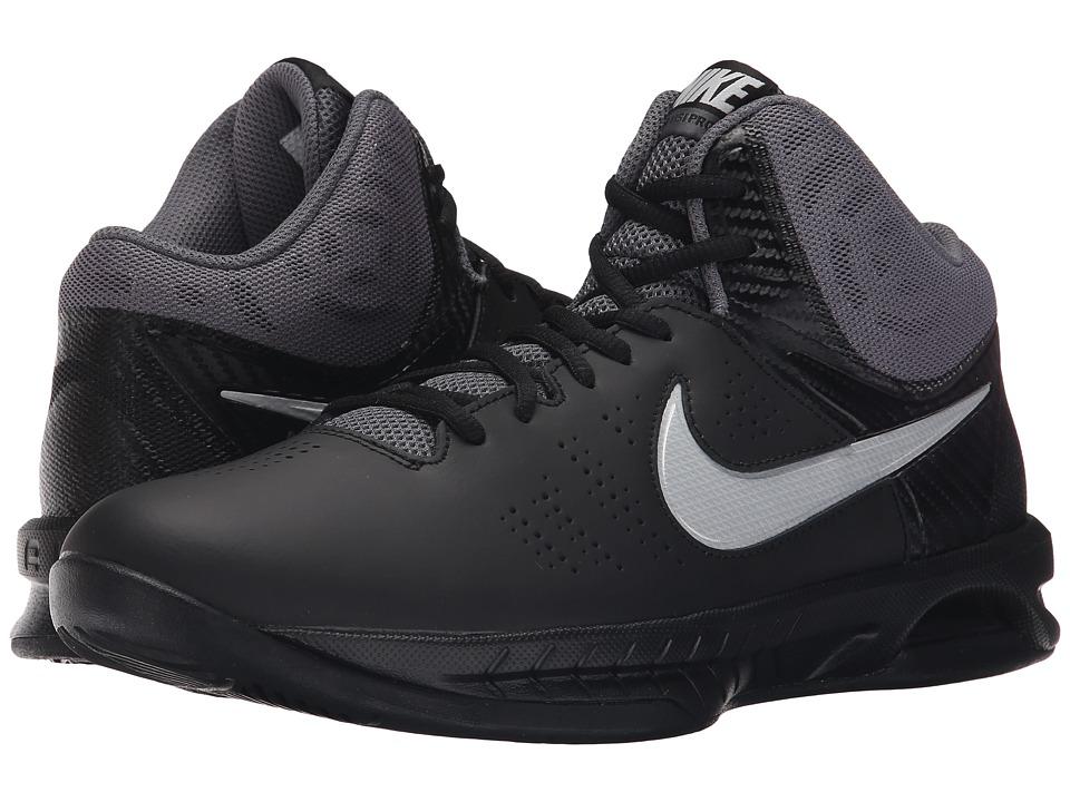 Nike - Air Visi Pro VI (Black/Dark Grey/Metallic Platinum) Men's Basketball Shoes