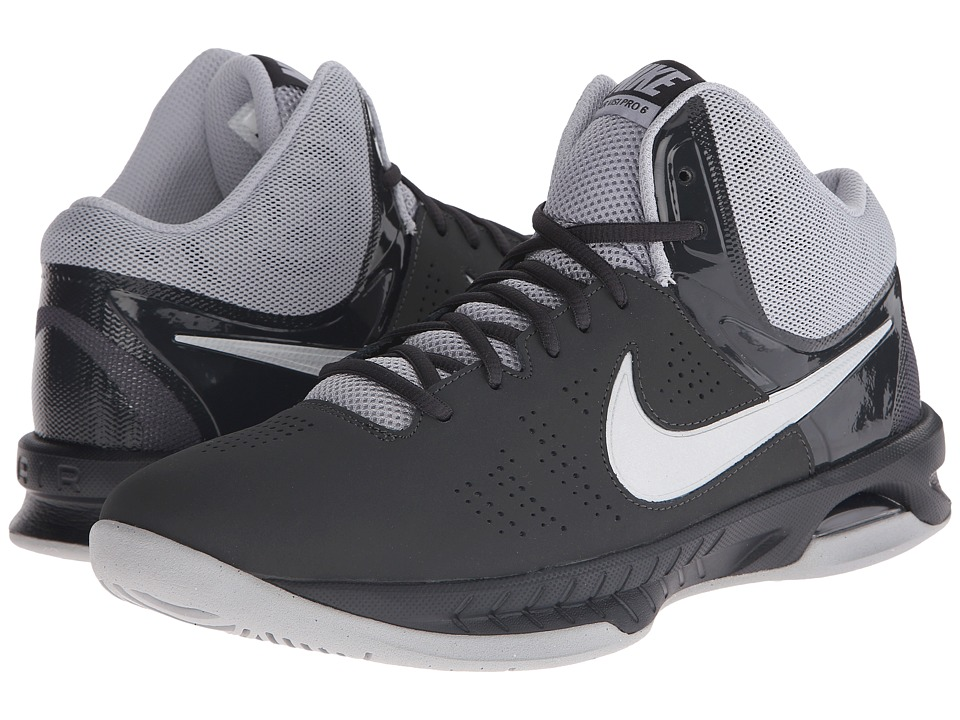 Nike - Air Visi Pro VI NBK (Anthracite/Wolf Grey/Cool Grey/Metallic Silver) Men's Basketball Shoes