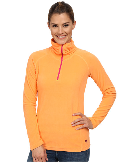 Mountain Hardwear - MicroChill Lite 1/2 Zip Top (Faded Orange) Women's Long Sleeve Pullover