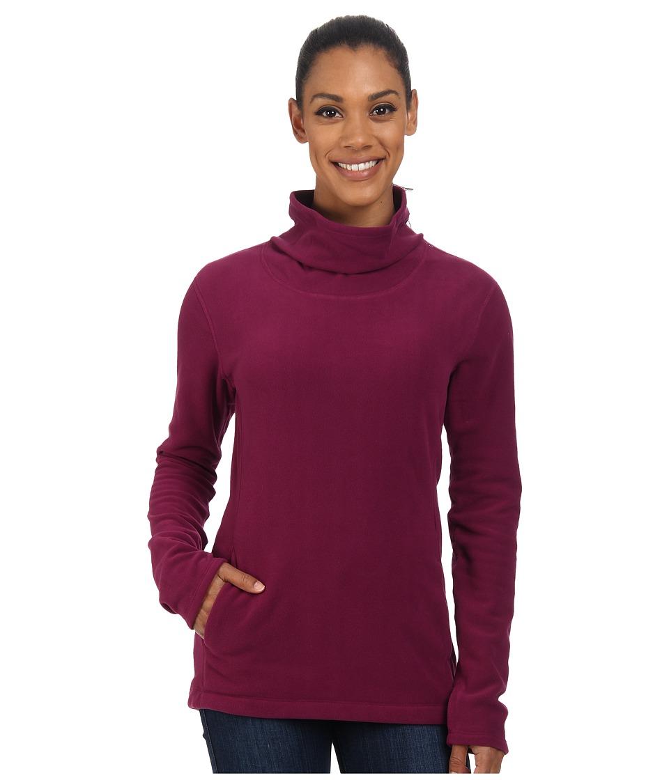 Mountain Hardwear - Microchill Cowl Neck Pullover (Dark Raspberry) Women
