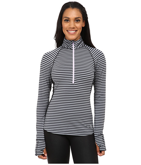 Mountain Hardwear - Butterlicious Long Sleeve 1/2 Zip Top (Black/Phantom Purple) Women's Long Sleeve Pullover