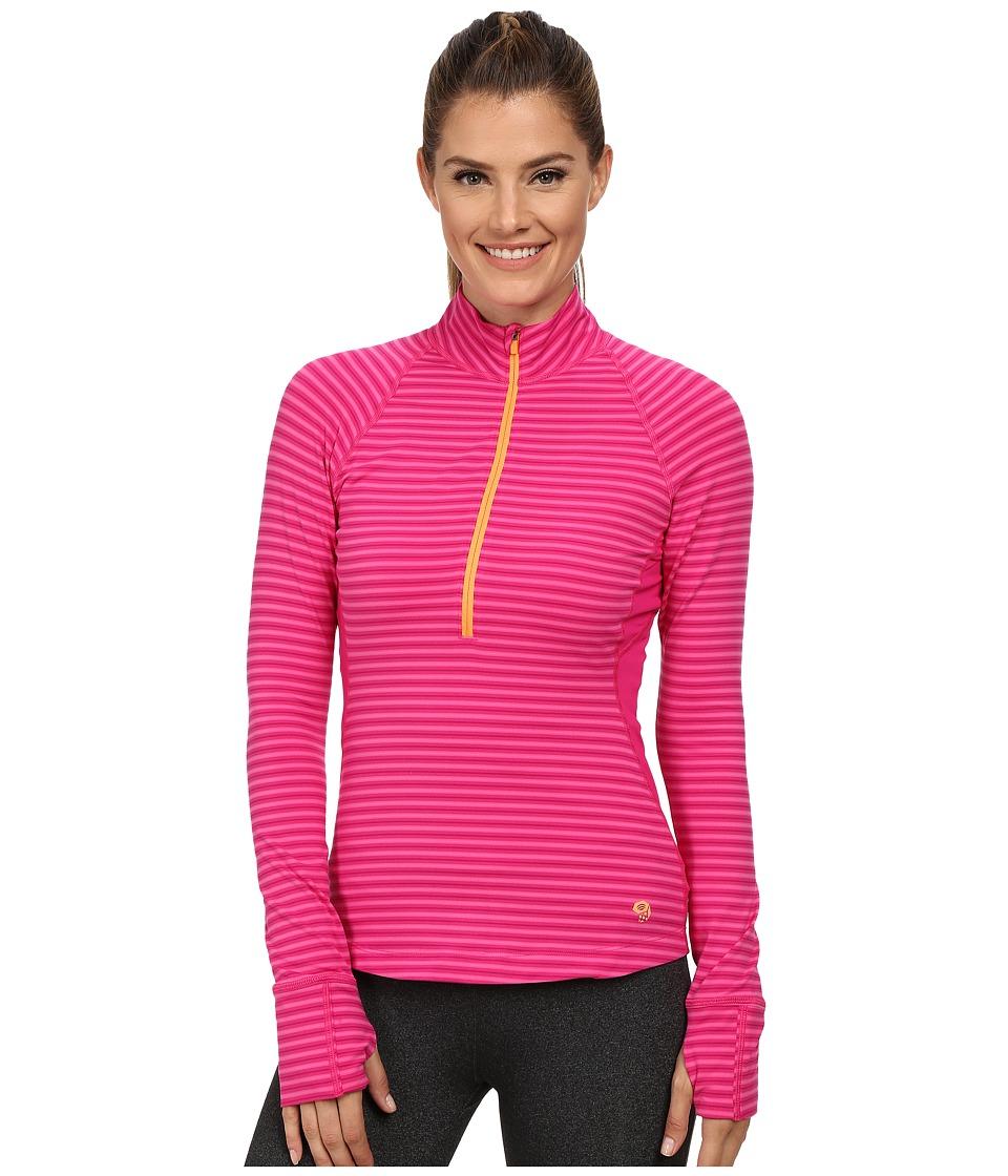 Mountain Hardwear - Butterlicious Long Sleeve 1/2 Zip Top (Haute Pink) Women