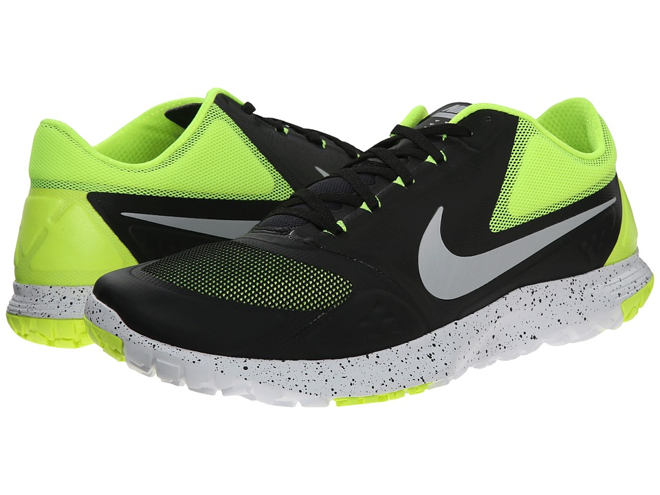 Nike - FS Lite Trainer II (Black/Volt/White/Metallic Platinum) Men