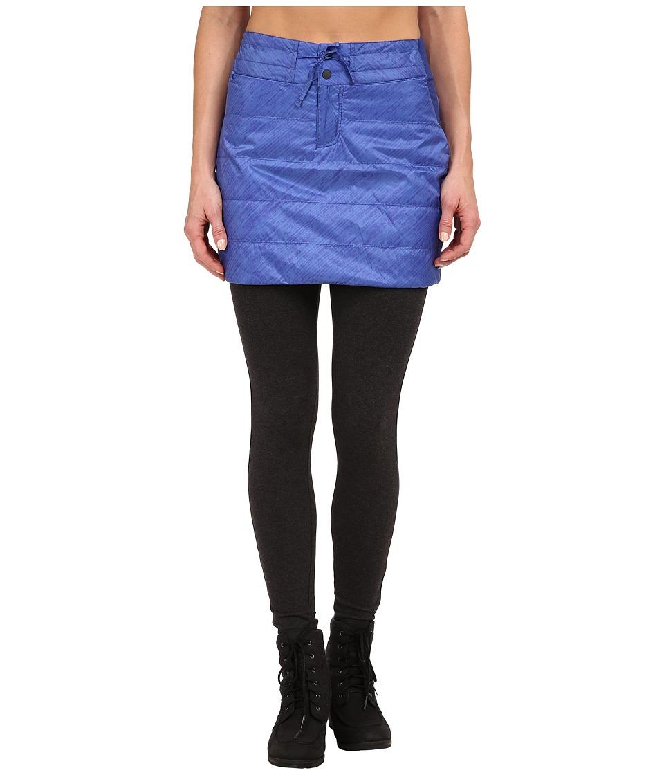 Mountain Hardwear - Trekkin Printed Insulated Skirt (Bright Bluet) Women's Skirt