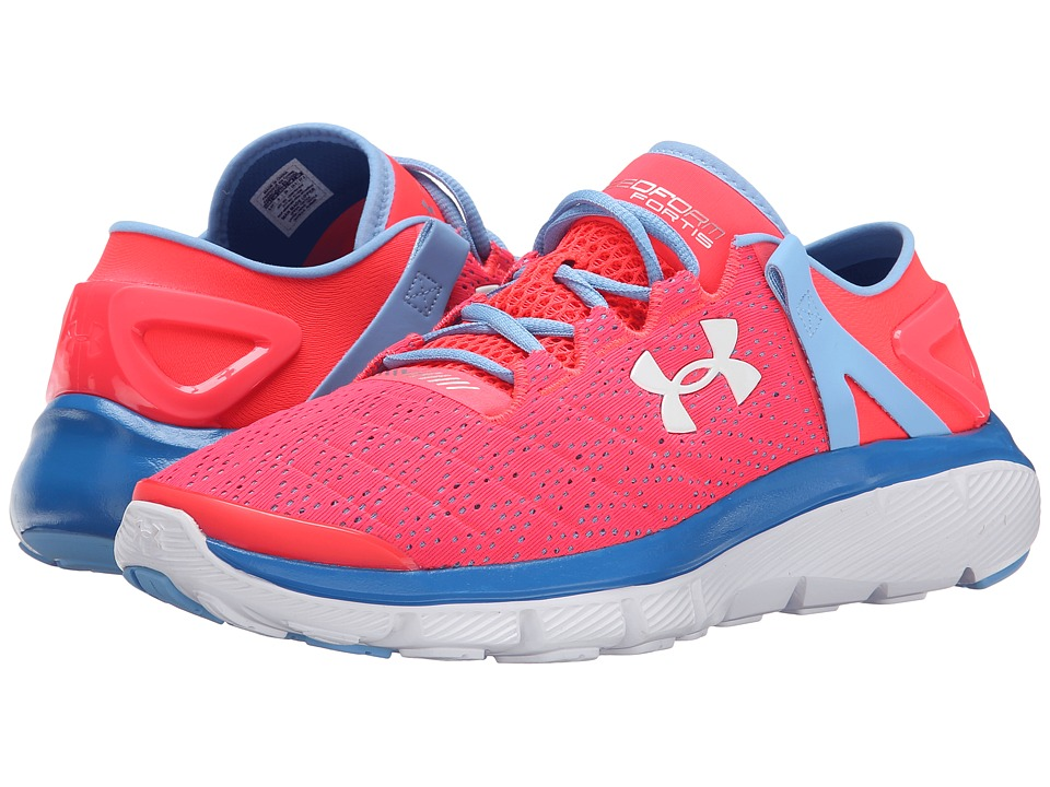 Under Armour Kids - UA GGS SpeedFormtm Fortis (Big Kid) (Neo Pulse/Carolina Blue/White) Girls Shoes