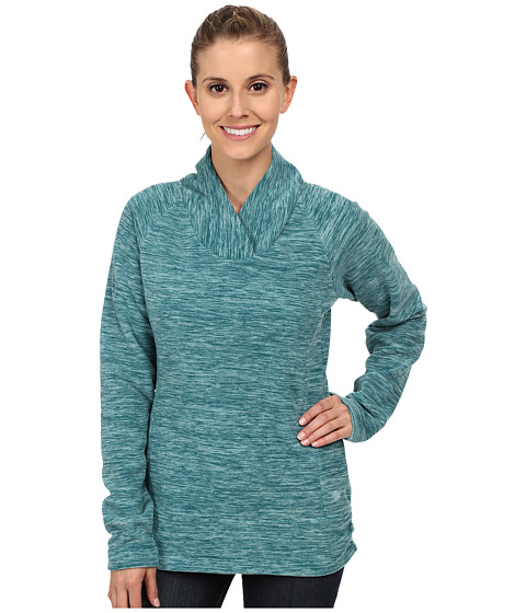 Mountain Hardwear - Snowpass Fleece Pullover (Heather Teal Green) Women's Sweatshirt