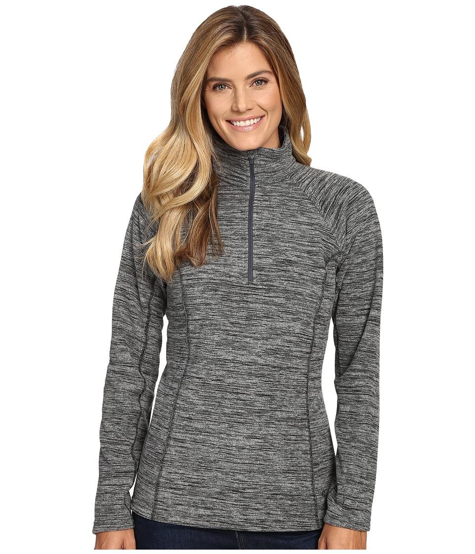 Mountain Hardwear - Snowpass Fleece Zip Tee (Heather Black) Women's Long Sleeve Pullover