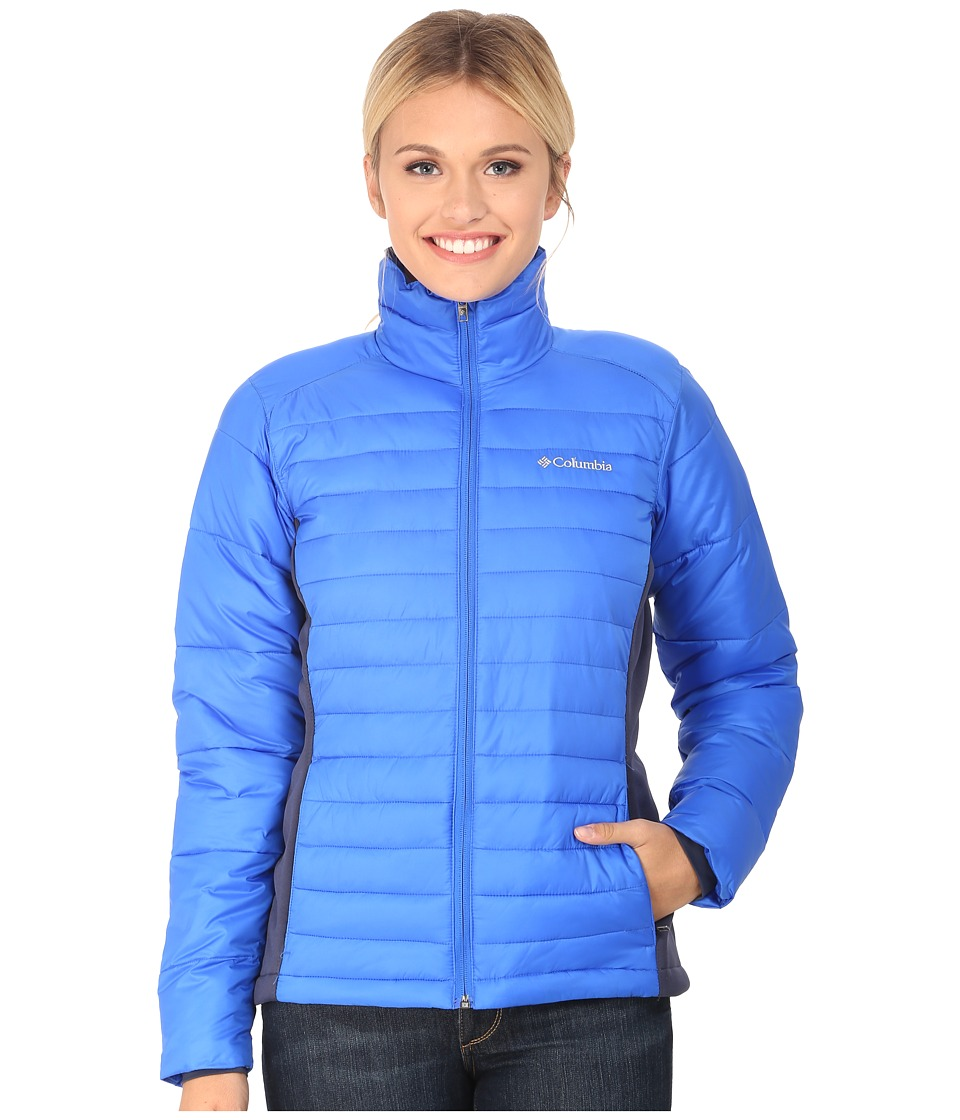 Columbia - Powder Pillow Hybrid Jacket (Blue Macaw/Nocturnal) Women's Coat