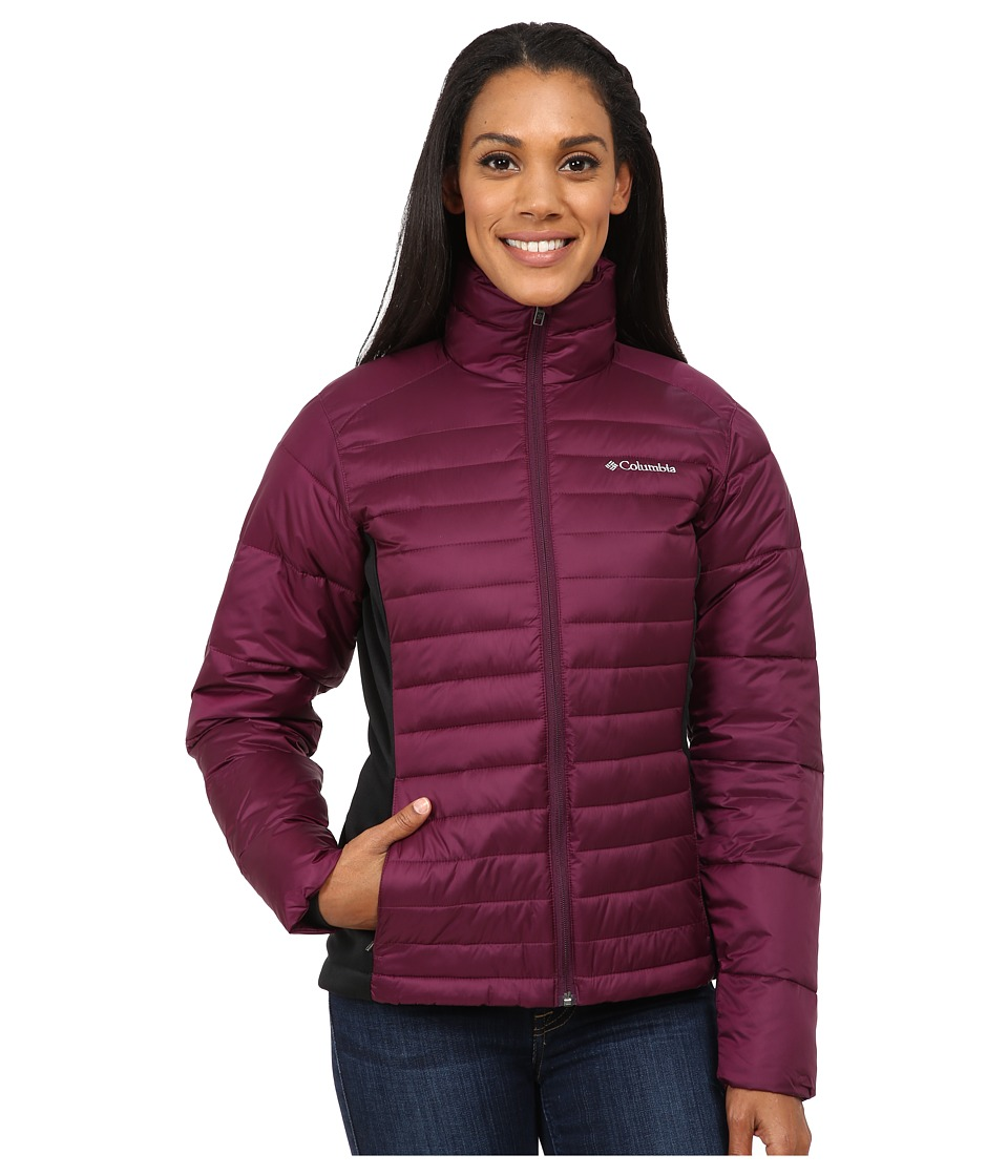 Columbia - Powder Pillow Hybrid Jacket (Purple Dahlia/Black) Women's Coat