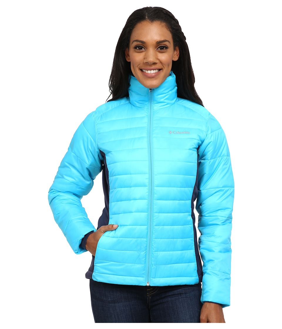 Columbia - Powder Pillow Hybrid Jacket (Atoll/Nocturnal) Women's Coat
