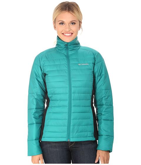 Columbia - Powder Pillow Hybrid Jacket (Emerald/Black) Women's Coat
