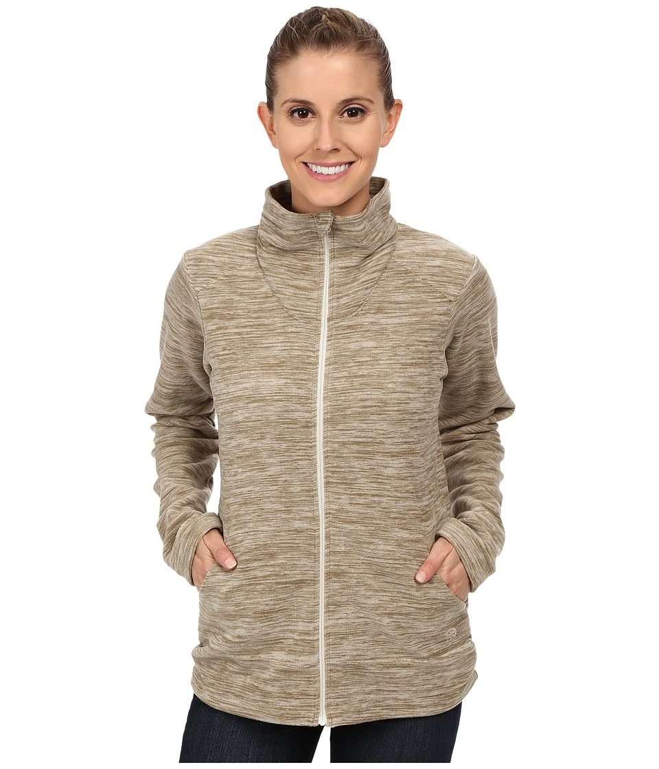 Mountain Hardwear - Snowpass Full Zip Fleece (Heather Khaki) Women's Fleece