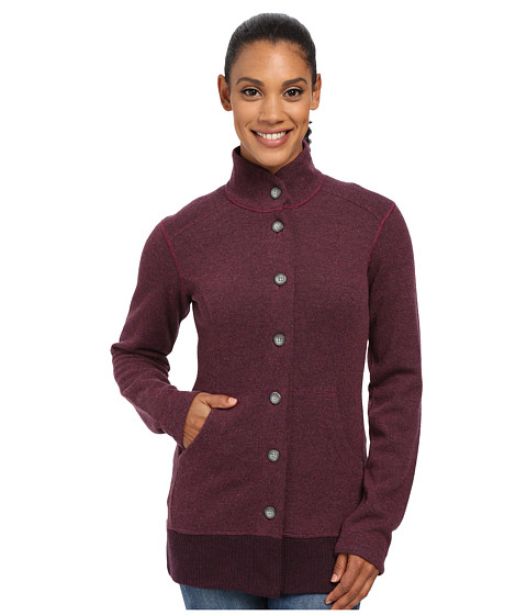 Mountain Hardwear - Sarafin Button Front Sweater (Dark Raspberry) Women's Sweatshirt