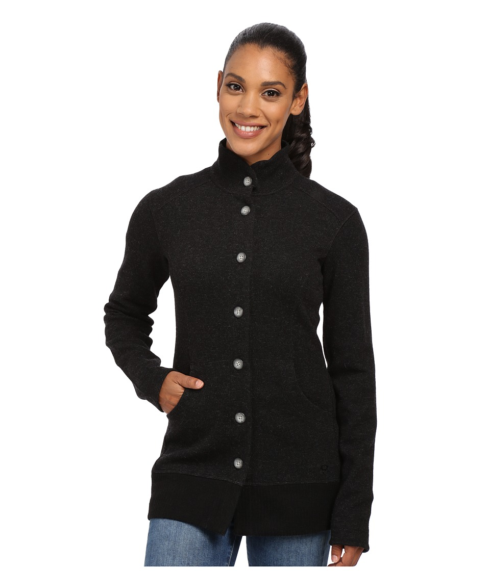 Mountain Hardwear - Sarafin Button Front Sweater (Black) Women's Sweatshirt